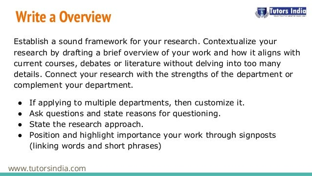 How to Write a PhD Research Proposal | DiscoverPhDs