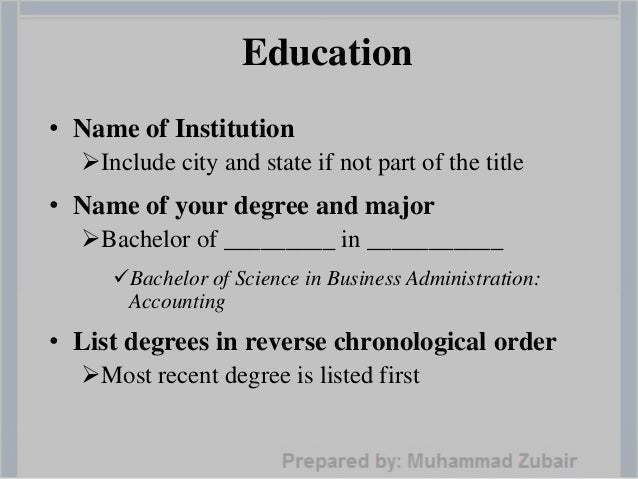 14 education name