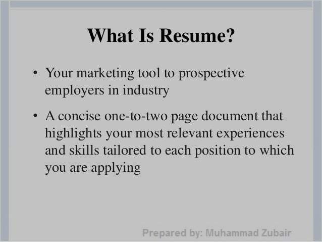 6. What Is Resume?