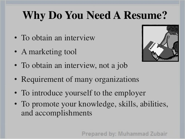 need to do a resumes