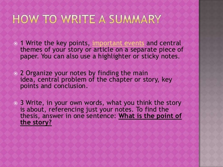 how to write an essay about the plot of a story