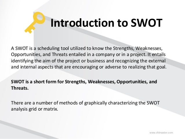 How To Write A Swot Analysis Report