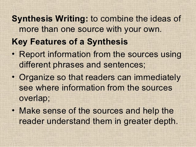 Synthesis Essay Format Standards