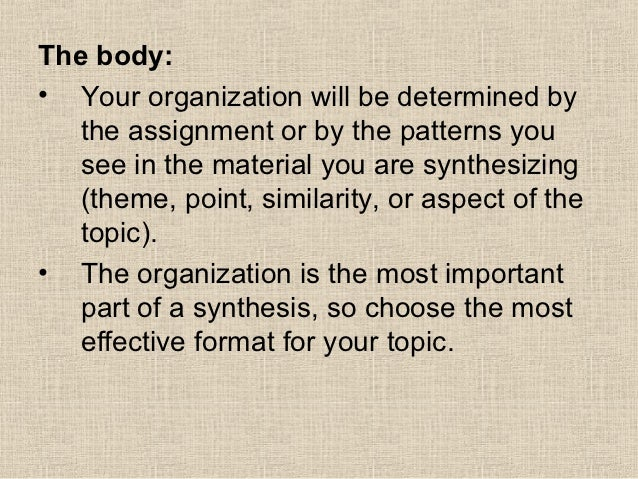 How to start a synthesis essay