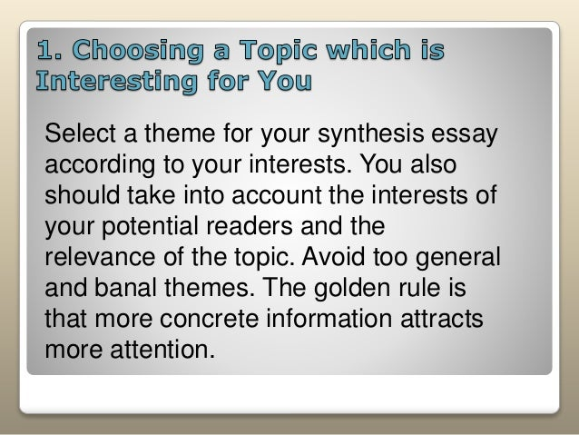 """parts of synthesis essay The synthesis essay mary ellen haley center for academic development what is """"synthesis"""" definition: """"synthesis"""" is the combining of separate elements or substances to form a coherent whole."""