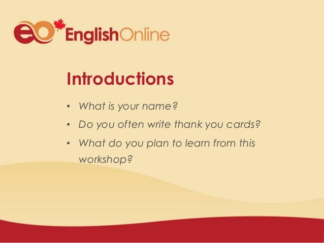 how to write a formal and informal thank you card settlement and english workshop clb levels clb 5 2