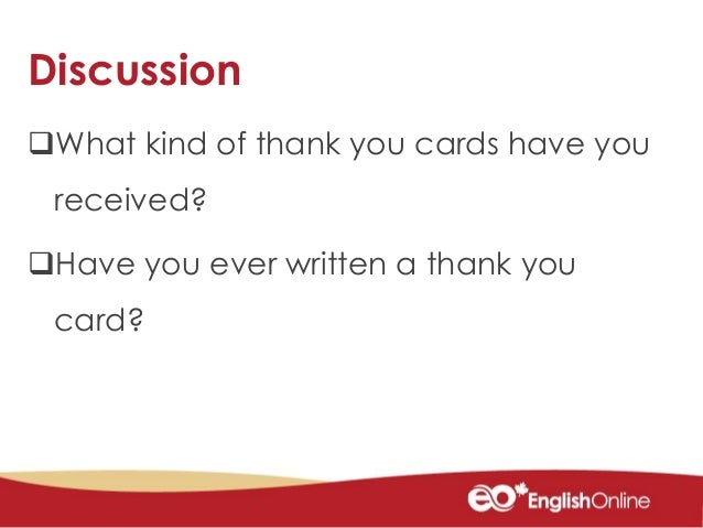 5 discussion what kind of thank you cards have you received