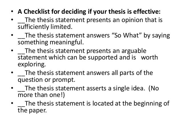 senior project thesis statment Senior project outline turn to page 19 in your handbook, take out your notebook revisit your thesis statement p19 ask yourself the following questions.