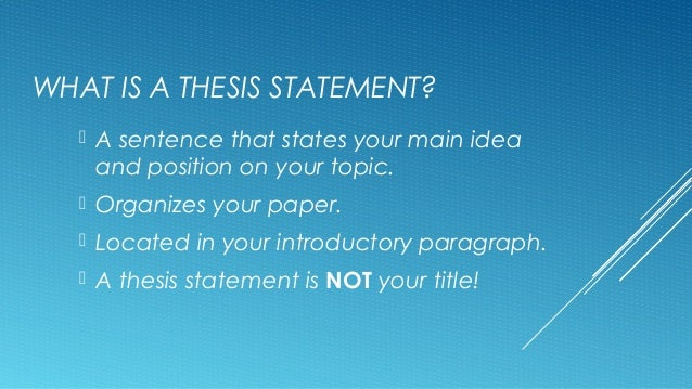 what is another name for a preliminary thesis statement Five steps to writing an outstanding phd thesis proposal  in other words,  when you ask your thesis question, think about the possible outcomes  thesis  proposal draft some preliminary answers to the following questions:  the right  thesis statement can save you 12 months in graduate school.