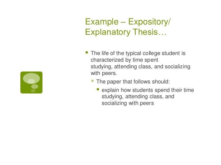 explanatory thesis