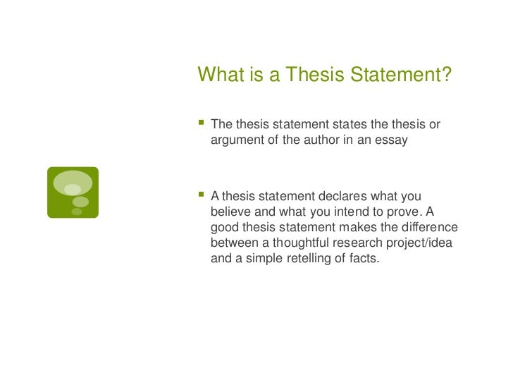 how to write a thesis statment  what is a thesis statement