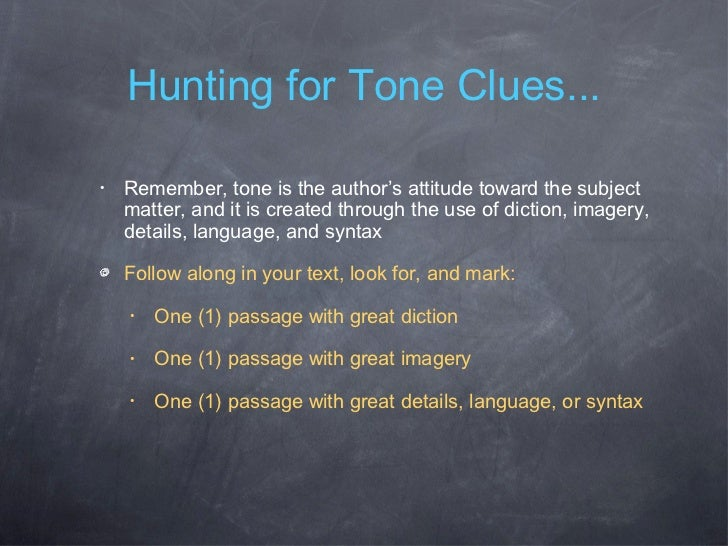 how to write a tone paragraph