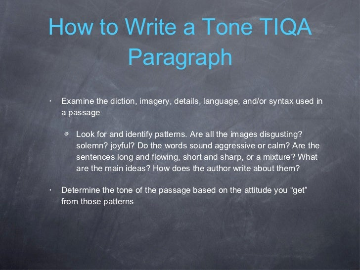 tone for a good story essay