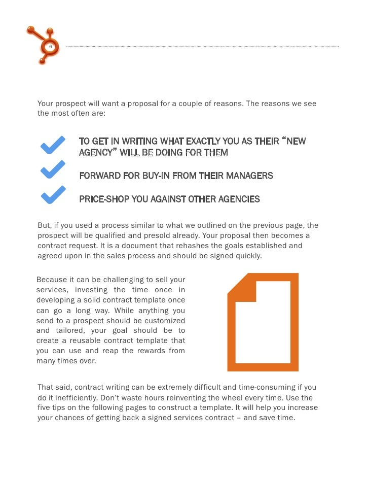 How to write a winning marketing services contract