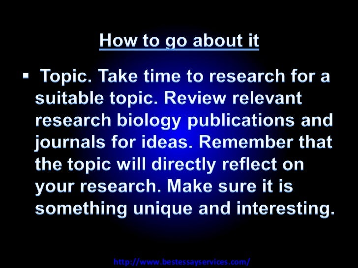 how to write a biology paper The general authority for writing of scientific papers is the council of biology editors style if you intend to write biology research reports beyond this.