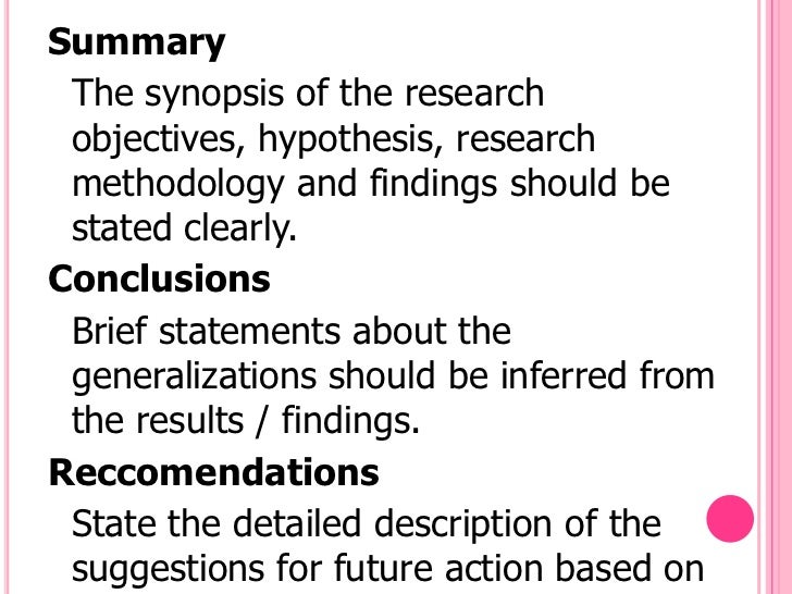Write a Research Summary