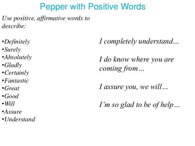 words that describe great customer service