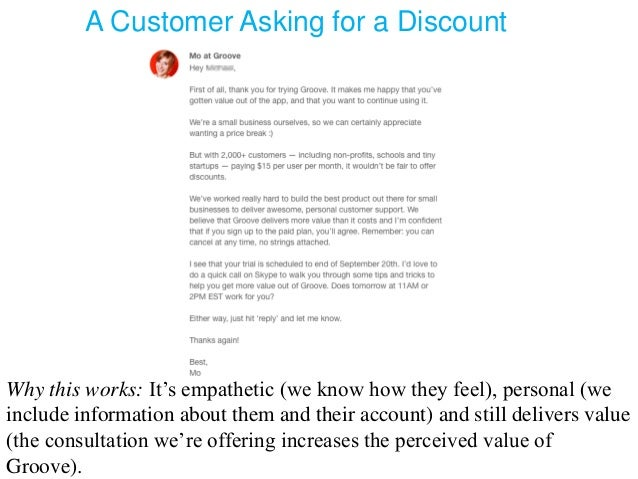 customer service business email writing examples