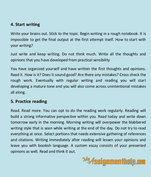 how to write custom essay tips and suggestions 5 4 start