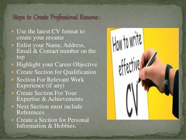 3 - Write Cv Online