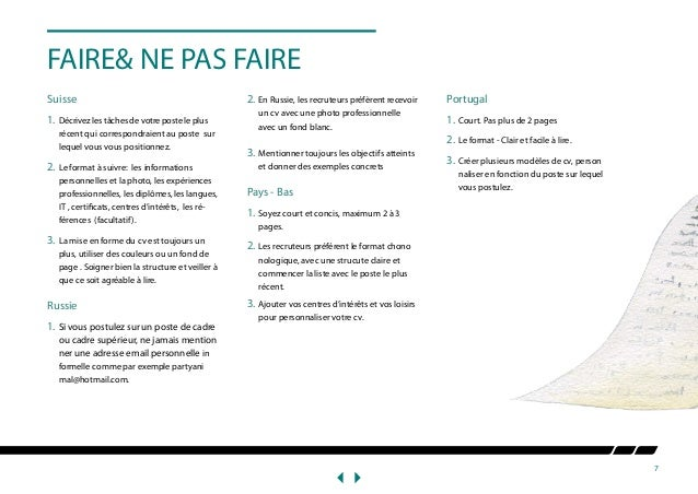 how to write cv white paper french