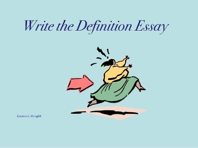definitional essay definition