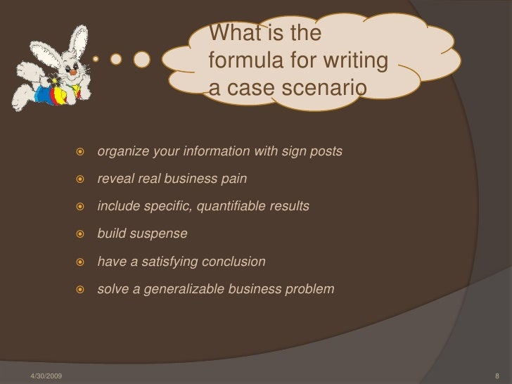 how-to-write-effective-case-scenarios-8-728 Example Of Formal Business Report on