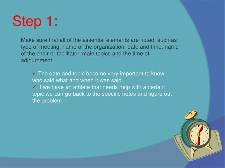 How to write effective meeting minutes Slide 3