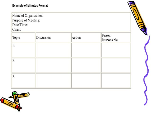 good meeting minutes template