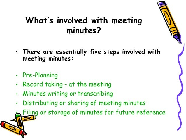 writing meeting minutes