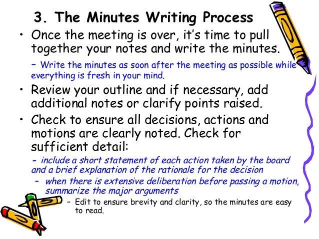 meeting minutes write
