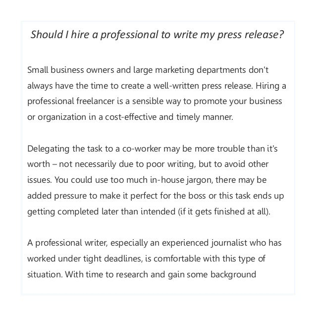 How to write effective press releases | Several tips from Craig Marti…
