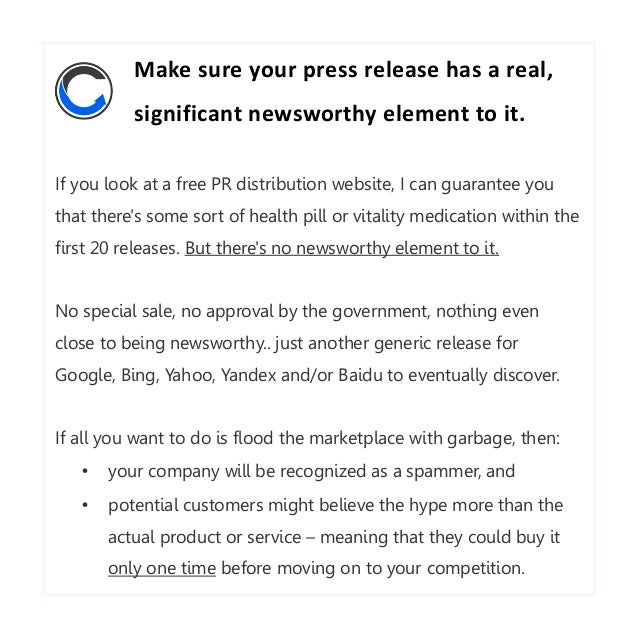 How To Write Effective Press Releases Several Tips From Craig Marti
