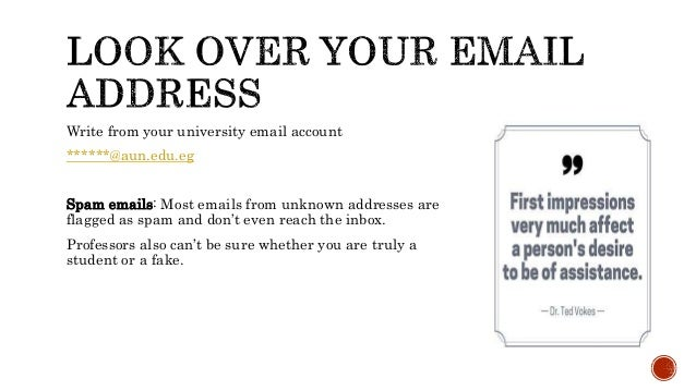 How to write email for prof  abroad
