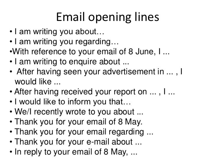How to write emails email opening lines m4hsunfo