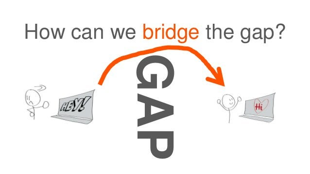 How can we bridge the gap? GAP