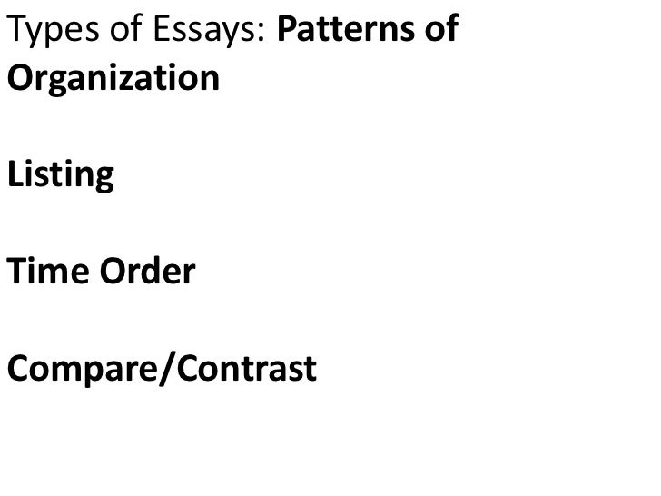 essay structure narrative types of essays patterns oforganizationlistingtime ordercompare contrast