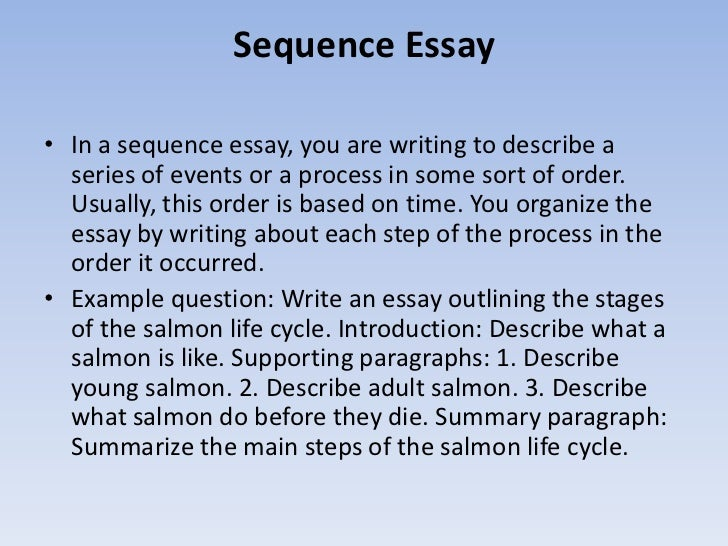a process essay is usually written in which order While minimal research is usually preformed in order to answer that question in writing there is an essay - the writing process writing can be a.