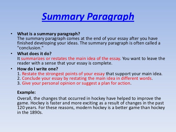 summary writing tips