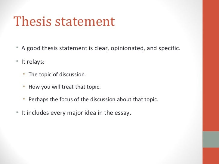 Writing great thesis statements