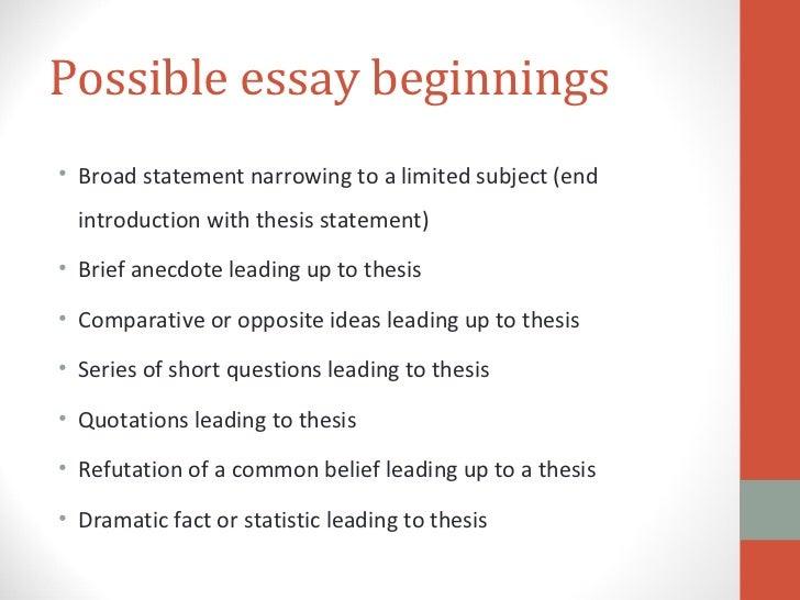 Descriptive essay information