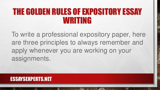 how to write a expository essay