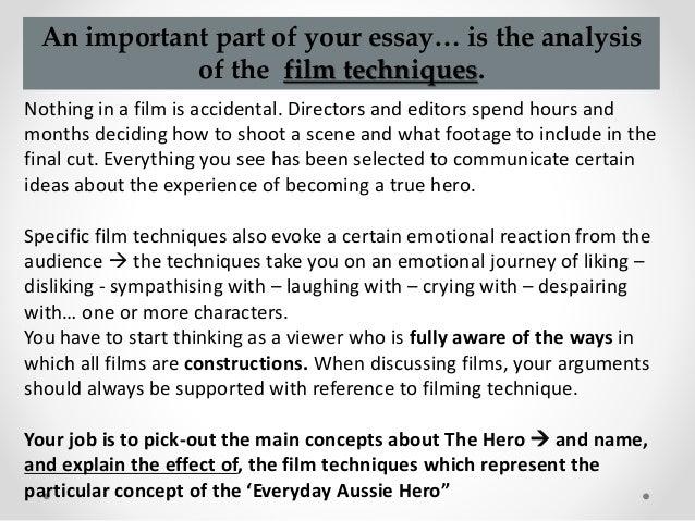 how to write a film analysis essay