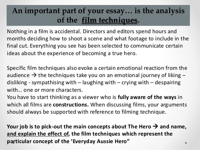 how to write film analysis of concepts of the hero in the castle 3