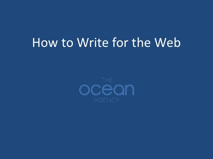 How to Write for the Web<br />