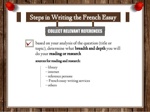 Original essay writing service french