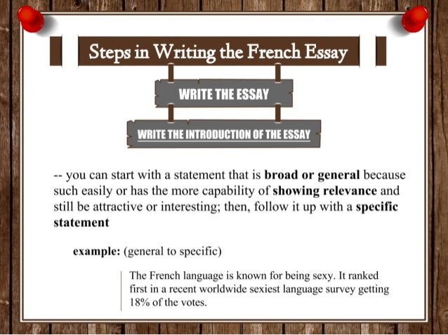 how to write an introduction for a french essay