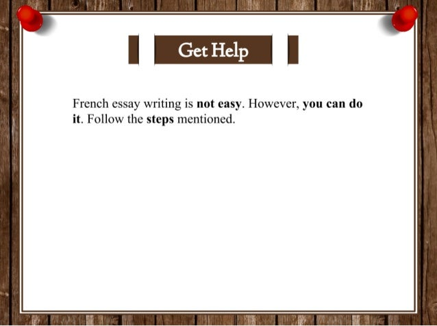 Essay writing in french