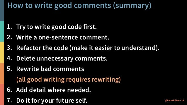 How To Write A Comment