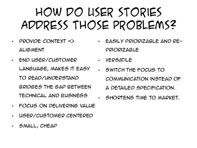How to write good user stories